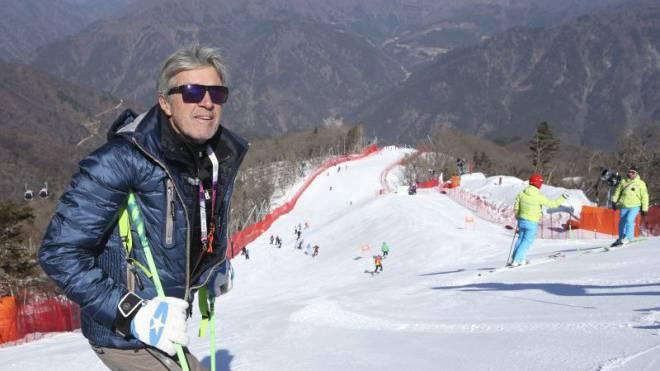 Bernhard Russi in diesem Jahr beim Skiweltcup in Südkorea. Foto: EQ Images