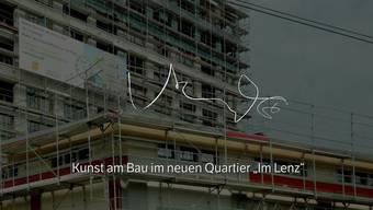 Das Neonlicht-Kunstwerk soll entlang der Bahnlinie Bern - Zürich die kulturelle Präsenz von Lenzburg markieren.