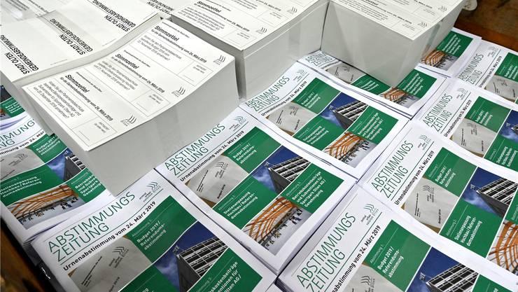 Die Oltnerinnen und Oltner stimmen am 24. März gleich über drei Vorlagen ab, darunter das Budget 2019.