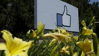 """Überlebensgross: Der """"Like""""-Daumen von Facebook (Archiv)"""