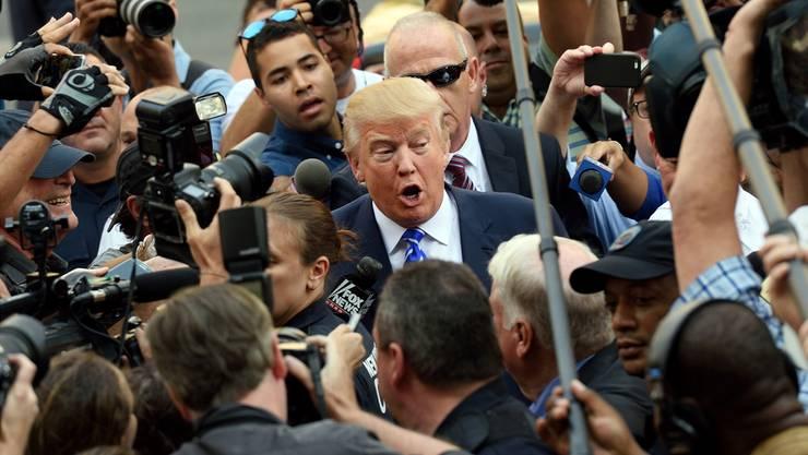 Präsident Trump und die Presse: Von Anfang an ein schwieriges Verhältnis. Don Emmert/AFP