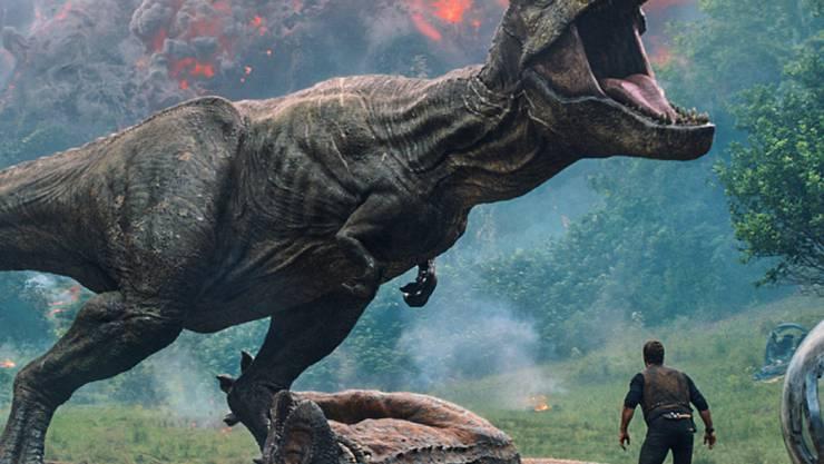 """Der Film """"Jurassic World"""" ist in Nordamerika weiterhin ein Kassenschlager."""