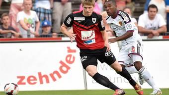 Marco Thaler (vorne) ist beim FC Aarau der Mann der Stunde.