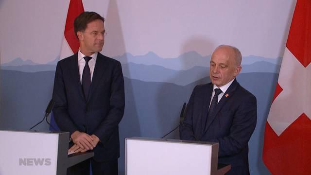 Niederländischer Premier zu Besuch in der Schweiz