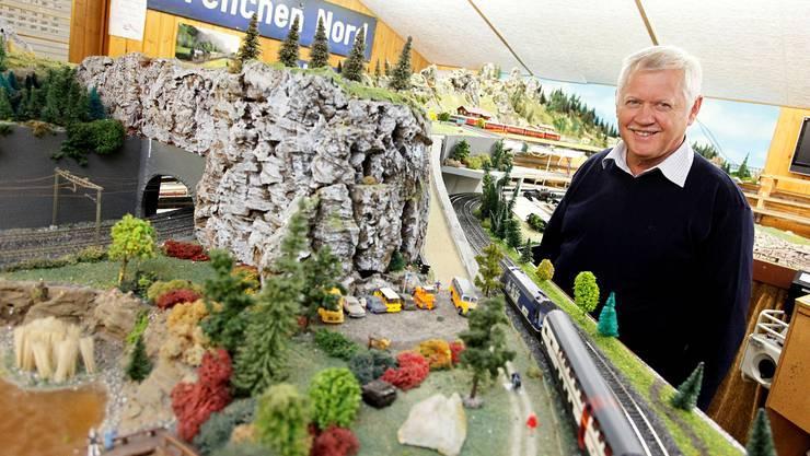Mario Plüss von den Eisenbahnamateuren Grenchen freut sich auf die Modelleisenbahntage.