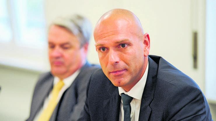 Der ehemalige BVB-Direktor Jürg Baumgartner (r.) und der frühere Verwaltungsratspräsident Martin Gudenrath (l.)