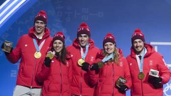 Die Schweizer Medaillengewinner von Pyeongchang