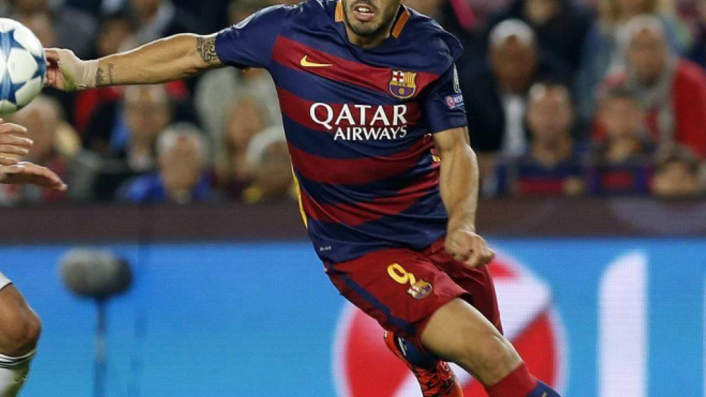 Luis Suarez schoss Barcelona zum Sieg