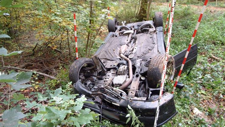 Der Blaufahrer landete mit seinem Auto im Wald, machte sich erst aus dem Staub und kehrte wieder zurück. (Symbolbild)