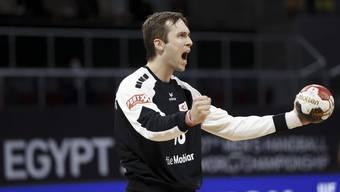 Phänomenaler Nikola Portner beim 20:18-Erfolg der Schweizer gegen Island.