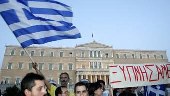 Demonstranten in der griechischen Hauptstadt Athen (Archiv)
