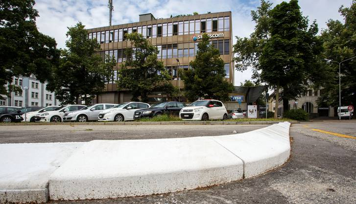 Postplatz früher: Bis vor kurzem war der Platz noch ein beliebter Parkplatz. Das Foto stammt von 2017.