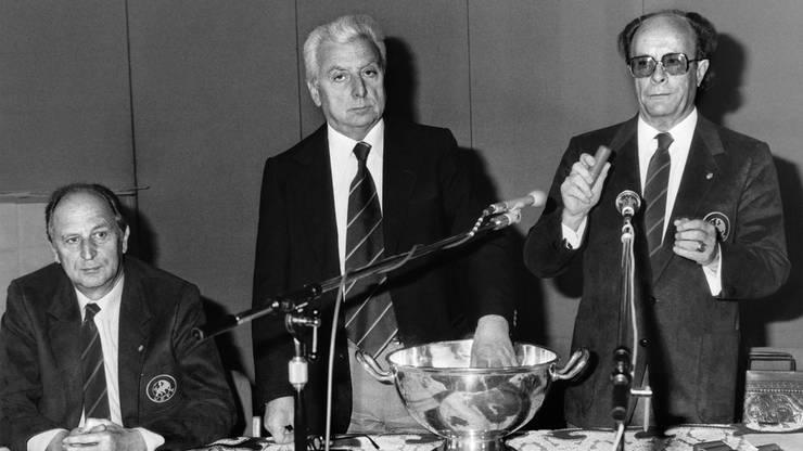 Lucien Schmidlin, rechts, leitete die Ära Helmut Benthaus ein.