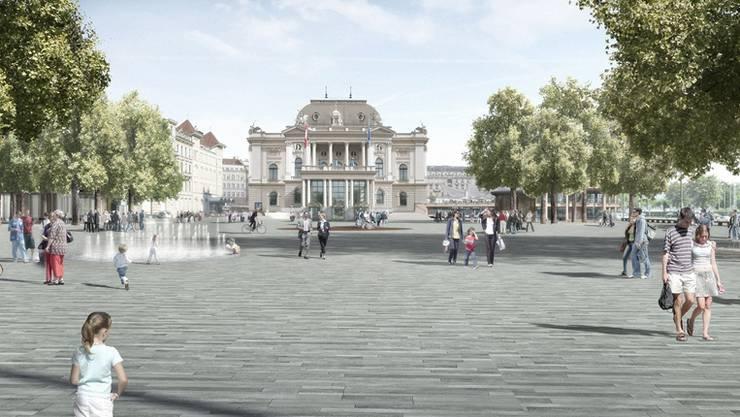 So soll der Sechseläutenplatz zum Preis von 17 Millionen Franken dereinst aussehen. zvg