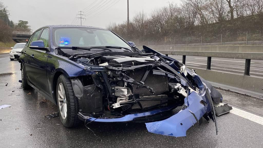 Selbstunfall auf der Autobahn A4