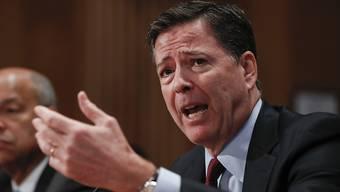 Das Justizministerium reagierte bislang nicht öffentlich auf die angebliche Forderung von FBI-Chef James Comey, die Spitzel-Vorwürfe von Präsident Donald Trump an dessen Vorgänger Barack Obama richtigzustellen. (Archivbild)
