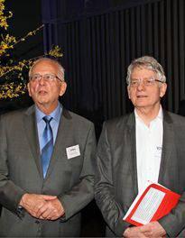 Der zurücktretende Präsident Roland Schuler und Willi Steffen, der neue.