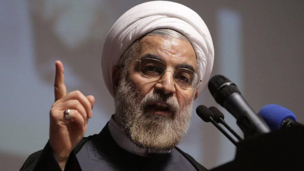 Irans Präsident Hassan Ruhani rief alle islamischen Staaten zur Einheit auf. (Archivbild)