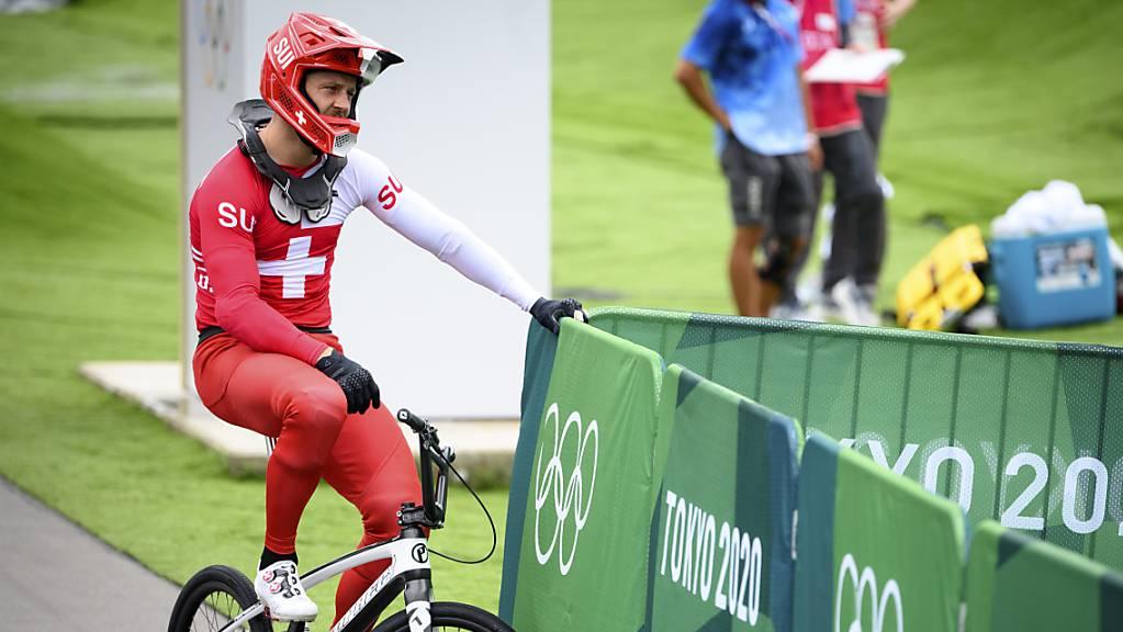 David Graf erlebt im Halbfinal in Tokio keinen guten Tag.