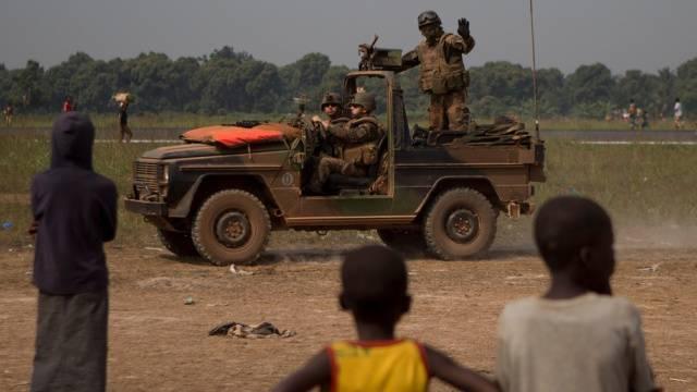 Französischer Soldat in der Zentralafrikanischen Republik (Archiv)