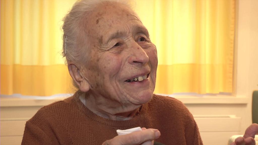 Die 102-jährige Pauline Grüninger hat beide Weltkriege miterlebt.
