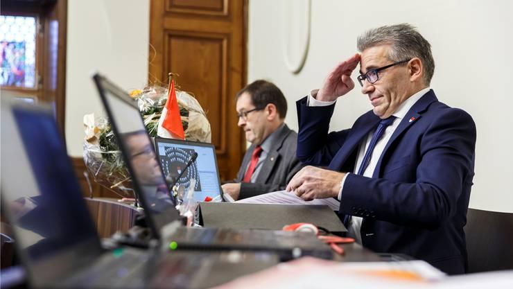 Am Mittwoch endete sein Dienst: Urs Ackermann, Kantonsratspräsident.