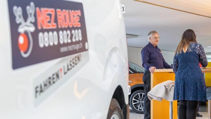 Präsident Heinz Fehlmann lanciert die Nez-Rouge-Aktion 2019.
