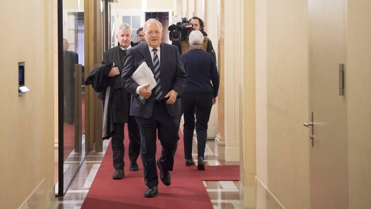 Bundesrat Johann Schneider-Ammann kommt zum Mercosur-Agrar-Gipfel zu den die aktuellen Handelsverträgen mit den südamerikanischen Mercosur-Ländern im Bernerhof in Bern.