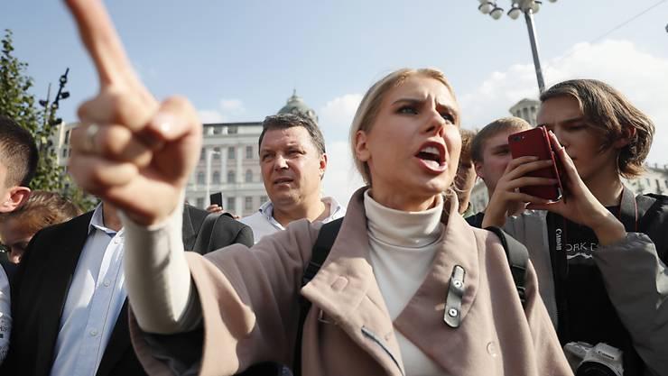 Die russische Aktivistin Ljubow Sobol ist am Montag nach Oppositionsangaben verhaftet worden. (Archivbild)