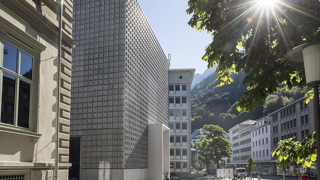 Der Erweiterungsbau zum Bündner Kunstmuseum in Chur mit den Kachelfassaden: Alt und Neu ergänzen sich.