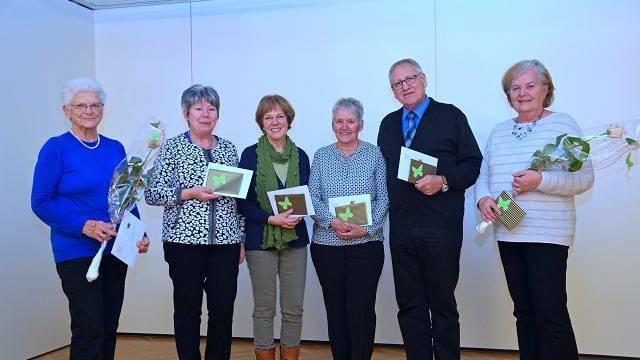v.l. Melitta Balmer, Bernadette Ingold, Vre Voss, Antoinette und Werner Werren, Edith Ward