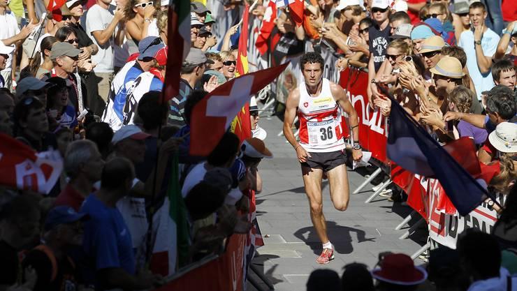 Matthias Merz während des Sprint Finals am Dienstag, 16. August 2011 in Chambery.