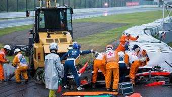 Jules Bianchi verunfallt schwer während des Formel-1-Rennens von Japan