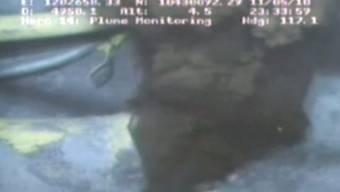 Videoaufnahmen vom Leck in 1200 Meter Tiefe