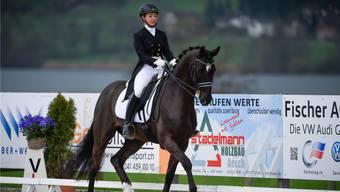 Carla Aeberhard auf ihrem Pferd «Delioh von Buchmatt».