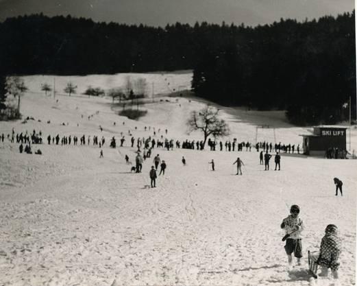 Der Andrang war schon in der Anfangszeit gross, wenn genug Schnee lag