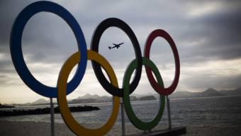 Symbolisch für Olympia: Die olympischen Ringe
