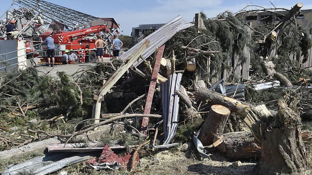 Tschechische Regierung beschliesst Soforthilfen für Tornado-Opfer