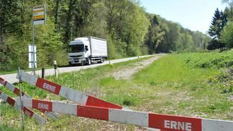 Der neue Radweg, hier wird er auf der Transportpiste erstellt, soll für mehr Sicherheit sorgen. nbo