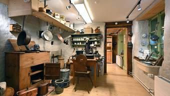 Blick in die Küche des ehemaligen Taunerhauses