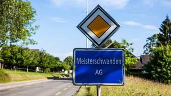 Ortseinfahrt von Meisterschwanden. Archiv