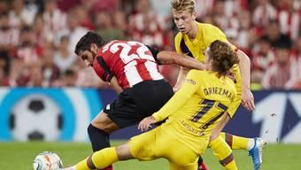 Der FC Barcelona tut sich mit Neuzugang Antoine Griezmann, aber ohne Lionel Messi schwer