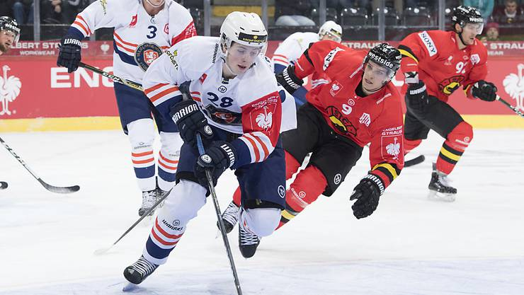 Das schwedische Team Växjö, hier in der Gruppen-Phase gegen den SC Bern, steht im Final der Champions Hockey League