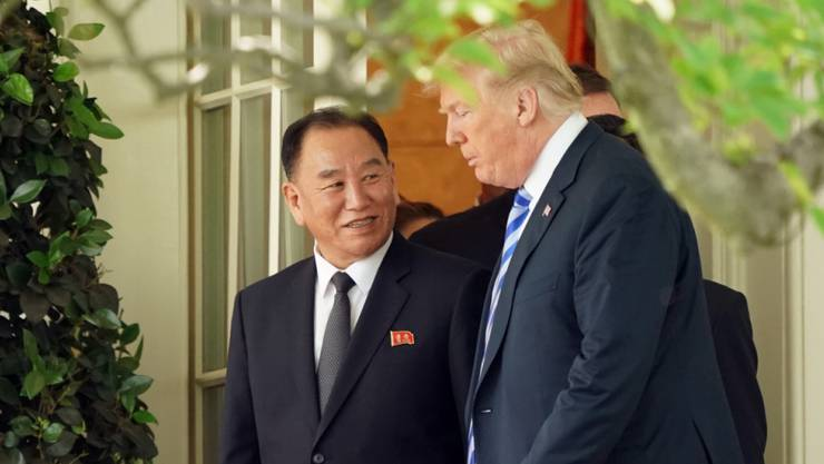 US-Präsident Donald Trump hat den nordkoreanischen Unterhändler Kim Yong Chol am Freitag im Weissen Haus in Washington empfangen.