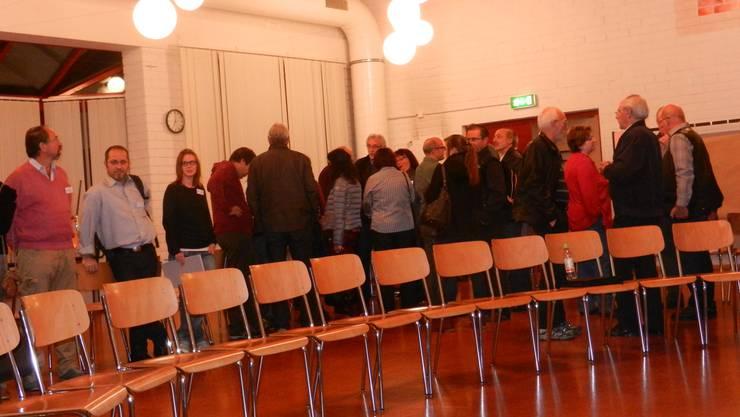 Noch sind die Stühle für den Workshop leer