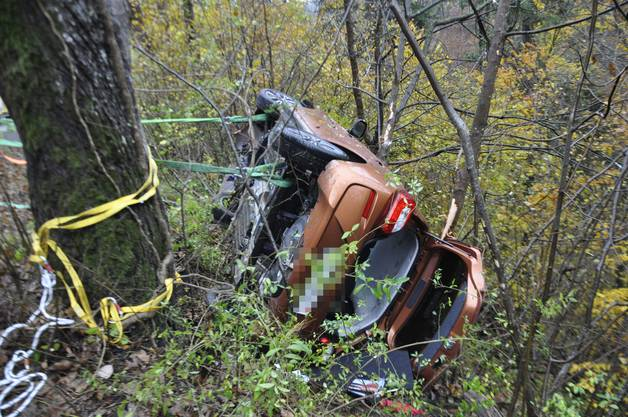 Trimbach SO, 27.Oktober: Eine Autolenkerin verlor die Kontrolle über ihr Auto. Dieses stürzte eine Böschung hinab.