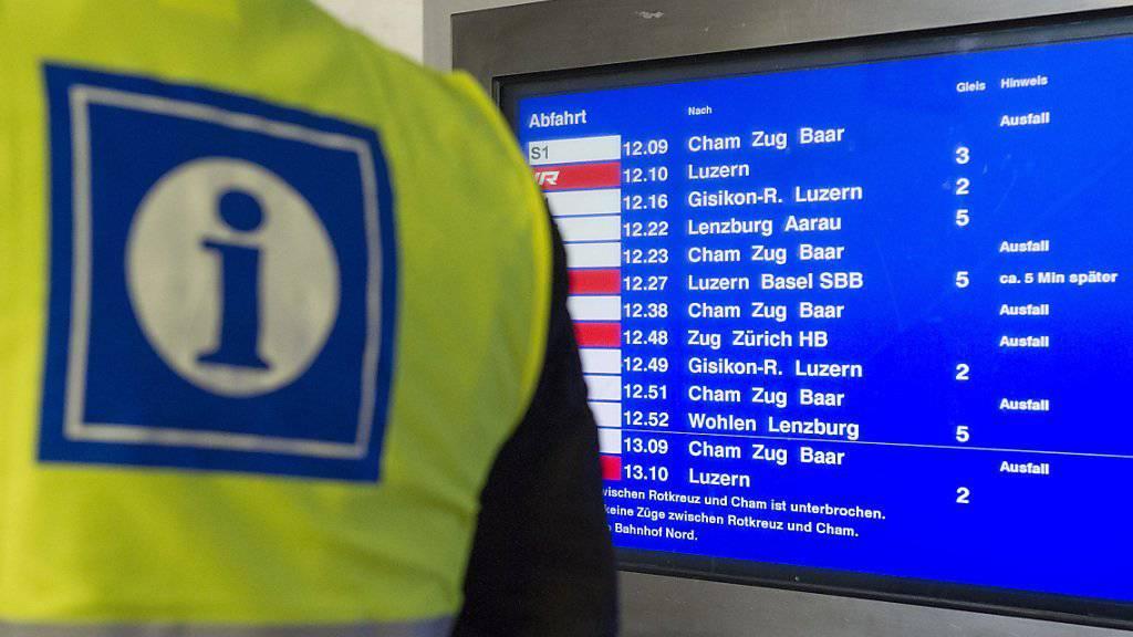 Der Bahnverkehr am Gotthard ist wegen einer Entgleisung unterbrochen. (Symbolbild)