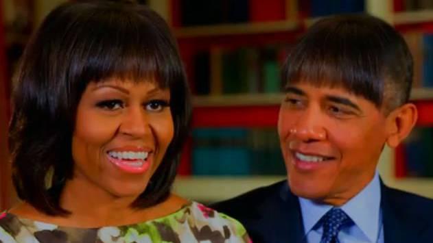 Obama Nimmt Sich Selbst Auf Die Schippe Frisur Von Michelle Kopiert