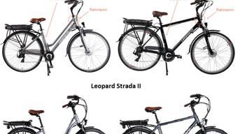 """Bei E-Bike-Modellen """"Leopard Strada"""" und """"Leopard Strada II"""" können sich Schrauben am Velolenker lösen. Deshalb tauscht Coop Bau+Hobby die entsprechenden Lenkvorrichtungen beim Kunden zu Hause aus."""
