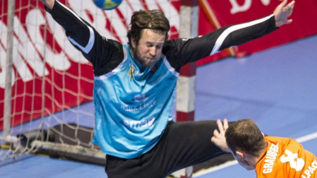 Aurel Bringolf zeigte im Pfadi-Tor ein starke Leistung